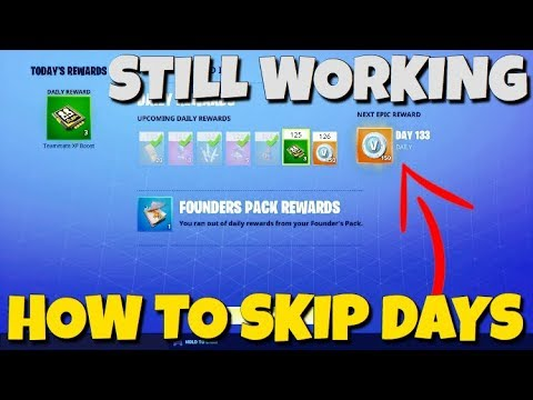 """*OMG* How To Skip Days On The """"DAILY REWARDS"""" Still Working...Fortnite Save The World"""