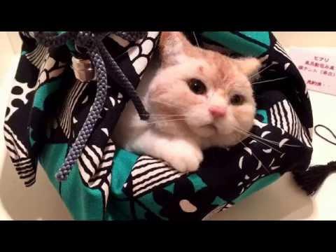 Cute Life-like Needle Felting Animals Cats Dogs Goldfish Japanese Artists Tokyo Museum #2