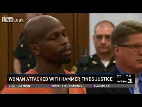 Abusive black man gets 14 years for beating white girlfriend with a hammer