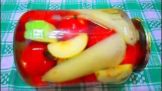 Маринованные помидоры на зиму без уксуса и стерилизации\ Простой рецепт с яблоками