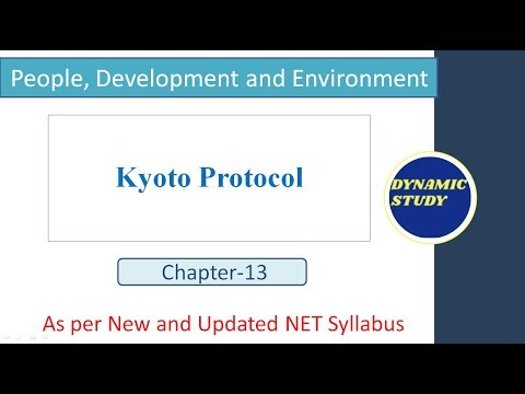 Kyoto Protocol   Unit-9 People, Dev. and Environment  