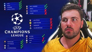 REACTING TO MY CHAMPIONS LEAGUE GROUP PREDICTIONS!!!