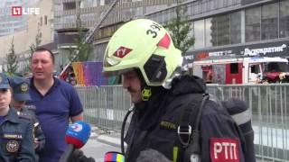 18 июля арбат горит дом пожар москва