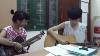 Quay về đi - cover guitar - Tạ Bích Ngọc ft Quyền Anh Tun