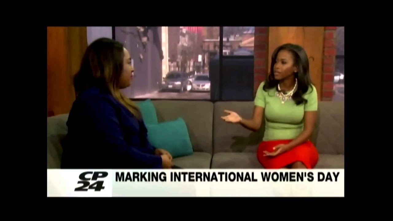 Giselle Phelps on CP24 in Toronto with anchor Nneka ...