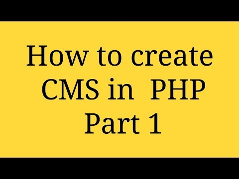 Create CMS in PHP  Part 1 - Login Process