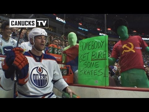 Green Men pin the tail on Taylor Hall