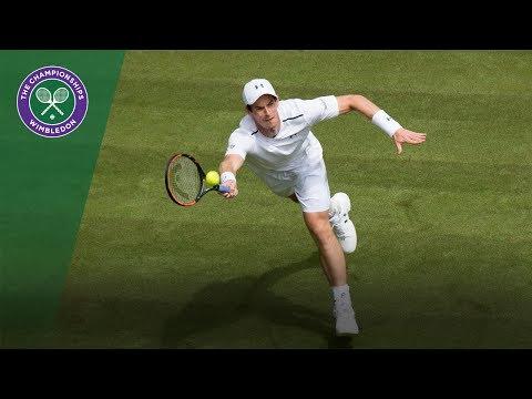 Andy Murray forehand winner - Wimbledon 2017 first round