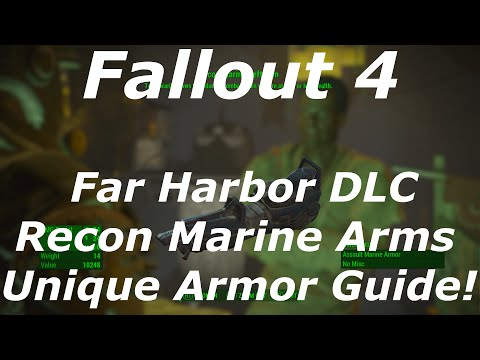 "Fallout 4 Far Harbor DLC ""Recon Marine Arms"" Unique Armor Location Guide! (Fallout 4 DLC Armor)"