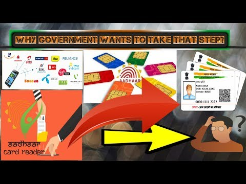 Link Mobile Sim Card with the Aadhaar Card & why govt.of INDIA wants to do this(important tech news)