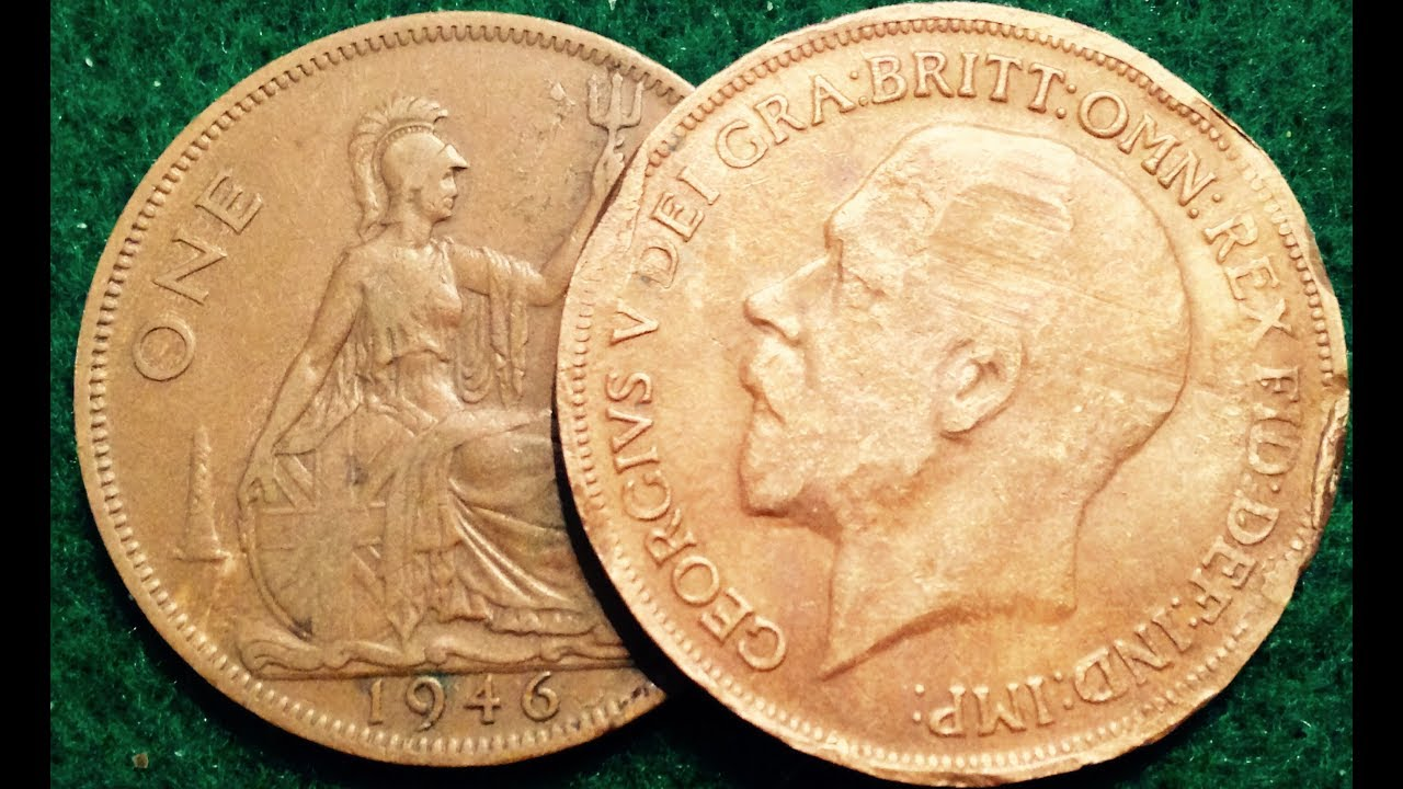 1919 One Penny Coin - George V - United Kingdom