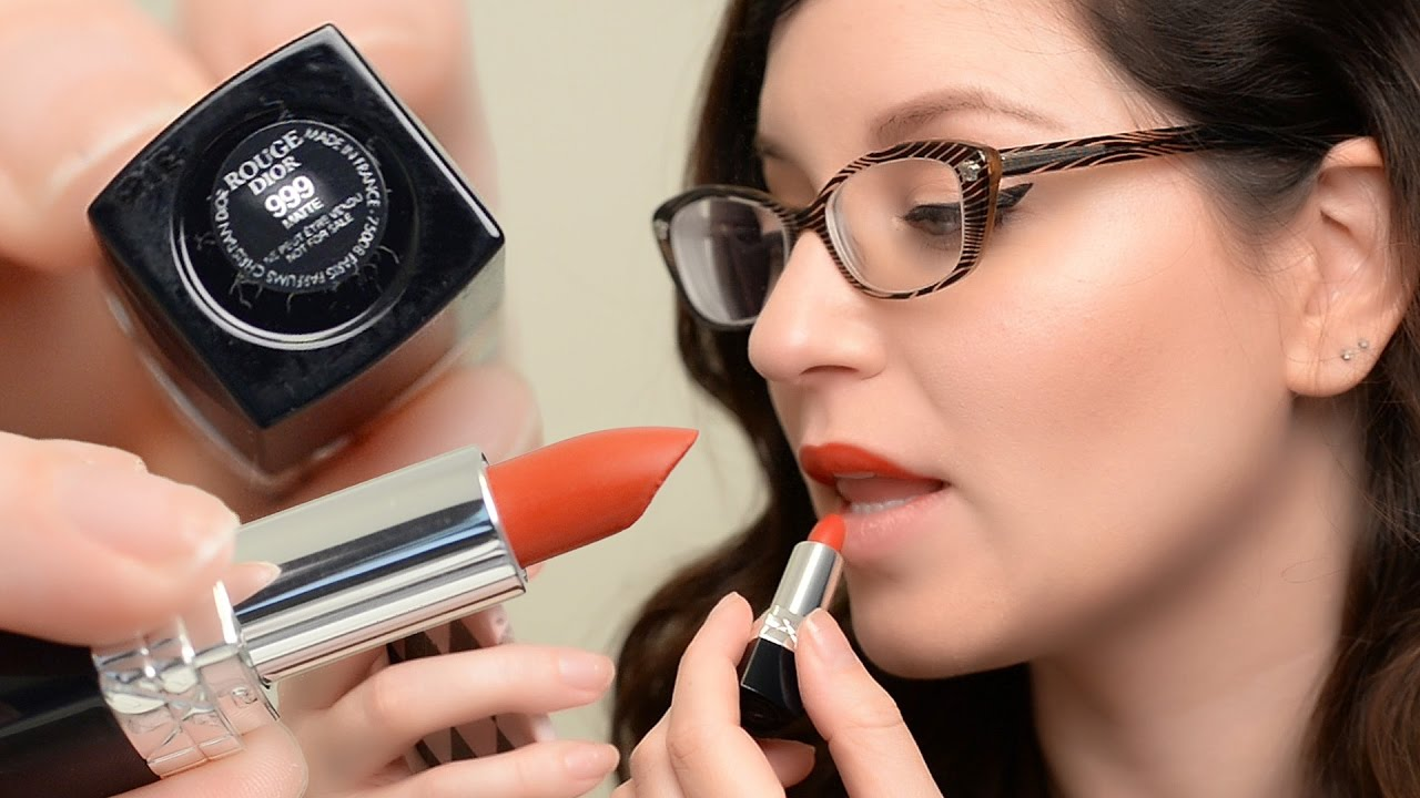 Rouge Dior Lipstick In 999 Matte Review Demo 12hr Wear Test