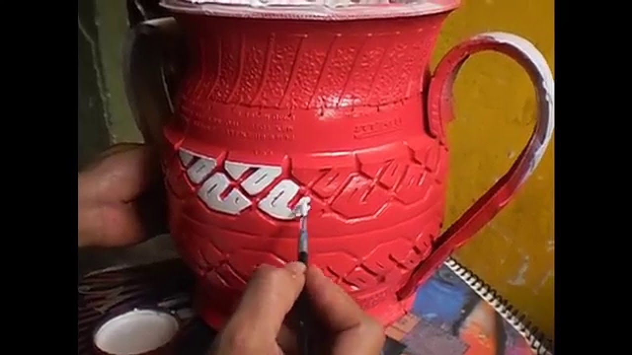 Como pintar una maceta de llantas youtube - Unas modelos para pintar ...