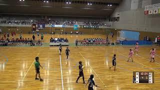 7日 ハンドボール女子 福島市国体記念体育館 Cコート 富岡東vs明光学園 3回戦 1