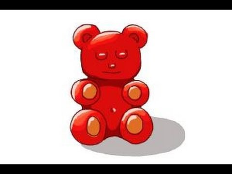 how to draw a gummy bear youtube