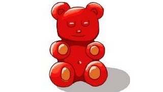 How to draw a gummy bear