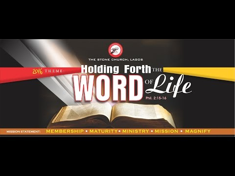 The Stone Church Lagos- 20th Convention, 1st Oct.- Morning Service - Topic: Doing The Works Of Jesus