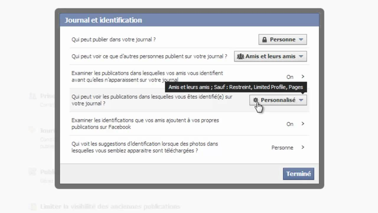 Facebook param trer la s curit et la confidentialit de son profil personnel youtube - Comment retirer de la rouille ...