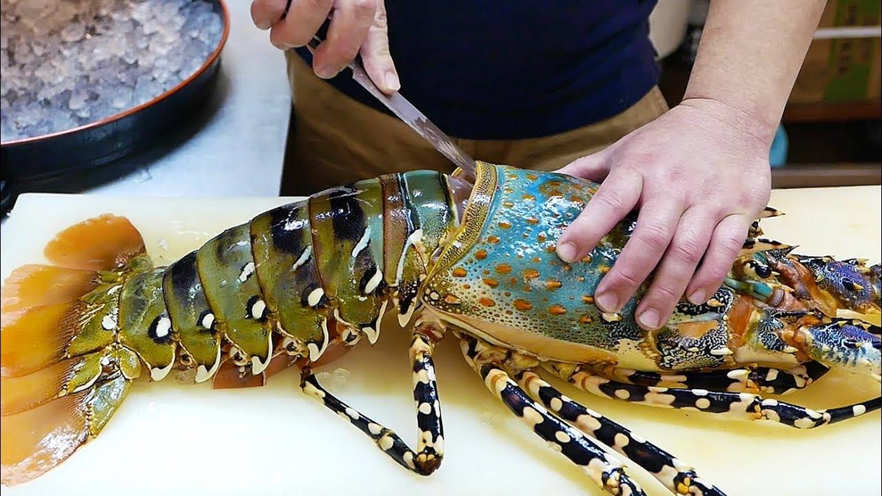 Cận Cảnh Chế Biến Sashimi TÔM HÙM CẦU VỒNG Nhật Bản Trị Giá Hơn 12 Triệu Đồng
