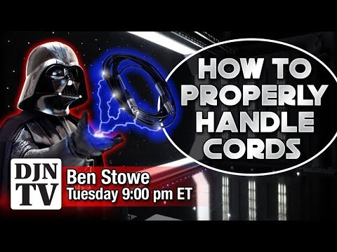 How To Properly Handle DJ Audio Cords and DMX Cables | Tuesday Night With Ben Stowe | #DJNTV