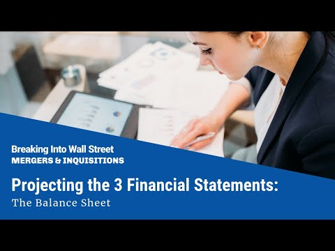 Projecting the 3 Financial Statements The Balance Sheet - YouTube