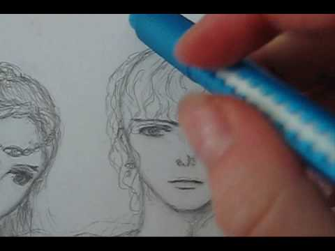 How To Draw Male Anime Manga Hair Curly Or Wavy Youtube