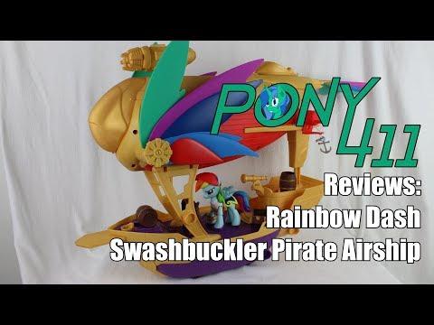 Pony 411 Reviews: MLP Movie Rainbow Dash Swashbuckler Pirate Airship
