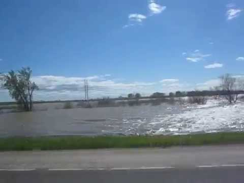 2011 June 3  Missouri River Flood Williston North Dakota.MOV