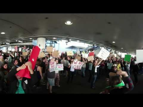 Protest Against Muslim Ban At LAX 1-29 #1