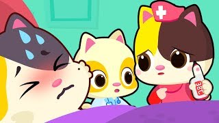 Kitten Doctor Takes Care of Mommy | Doctor Visit | Sick Song | Nursery Rhymes | Kids Songs | BabyBus