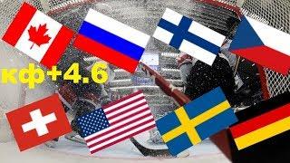 Канада   Швейцария  Россия   США  Финляндия   Швеция Чехия   Германия ЧМ по хоккею прогноз