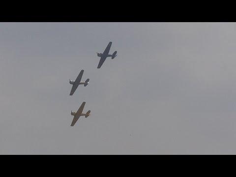 North American Havard and texan at American air show Duxford