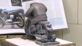 Robert Harrop Designs - Matt's Studio Blog - Bulldog Motorcycle - Dog Figurine - Triumph Bonneville