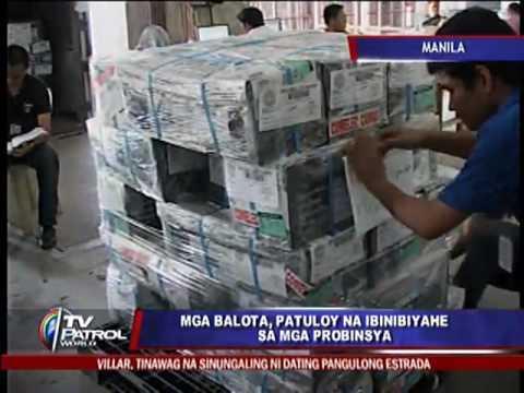 More ballots shipped to Visayas, Mindanao