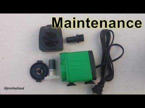 Maintenance on aquarium pumps, how to clean your aquarium pump.