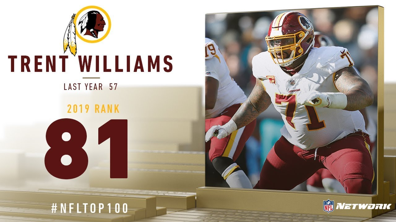 Trent Williams makes NFL Network's Top 100 for 6th-straight year