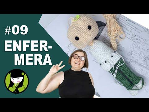 ENFERMERA AMIGURUMI 9 cabeza tejida a crochet