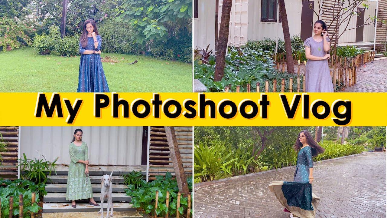 My Photoshoot Day Vlog | Anithasampath Vlogs