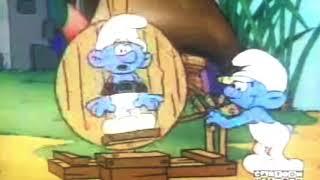 Smurfs jokey's funny bone