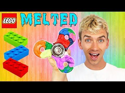 MELTING LEGO FIDGET SPINNER!!