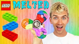 MELTING LEGO FIDGET SPINNER!!