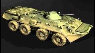 BTR 80 engine - moving sound effect
