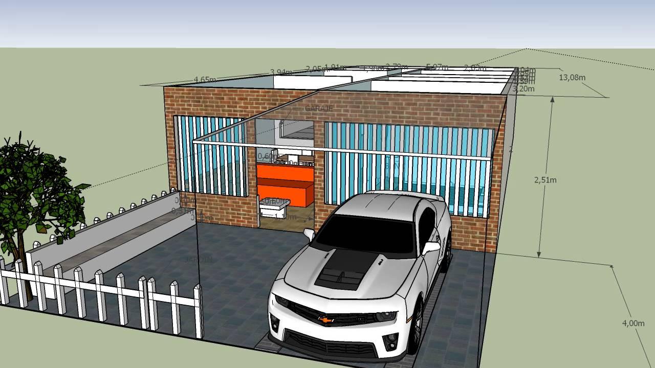 Modelo 3d casa dise o de plantas industriales youtube for Diseno de apartamentos industriales