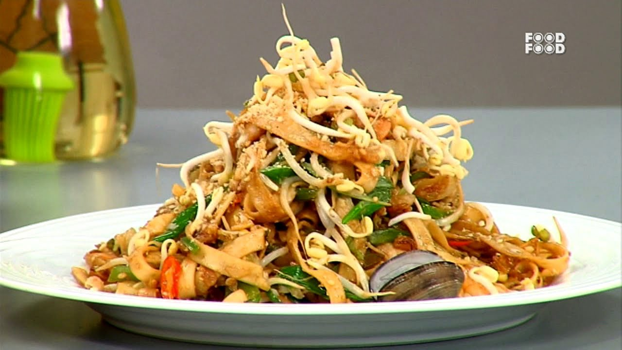 Seafood pad thai noodles sanjeev kapoors kitchen youtube forumfinder Gallery
