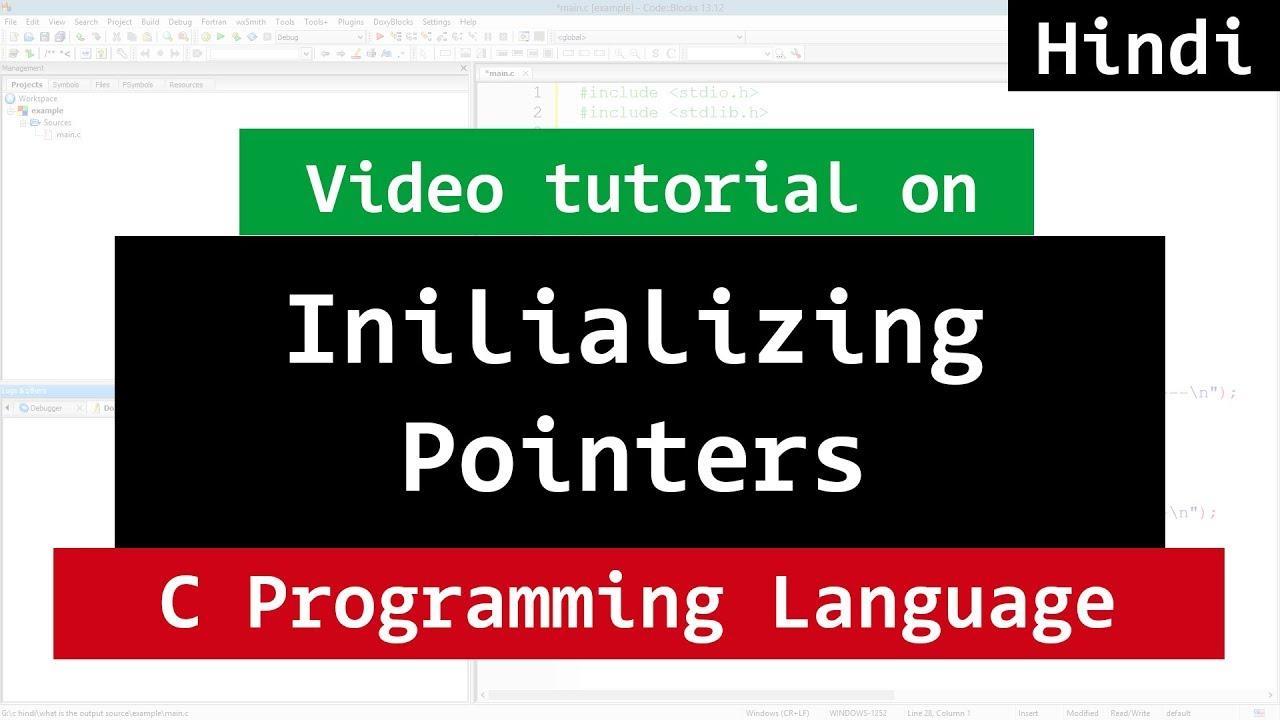 Pointer Initialisation in C Programming | Video Tutorial ...