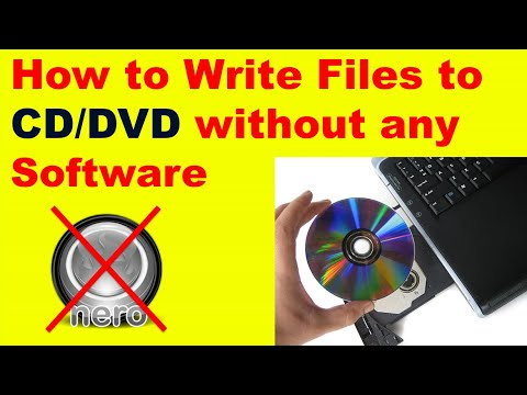 How To Write / Burn A CD/DVD On Windows 7 Without Any Programs!