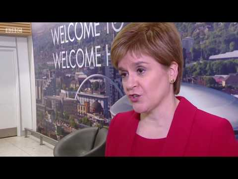 Nicola Sturgeon leaves EU after just 45 minutes with Michel Barnier