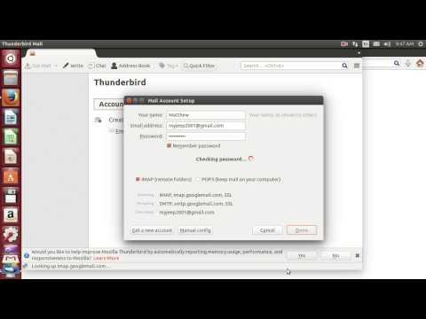 Ubuntu Tutorial #1 : How To Configure Your Email To Thunderbird