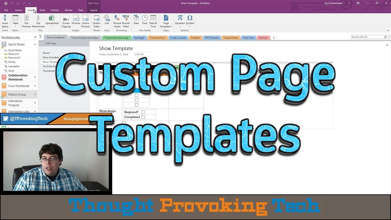 OneNote Snippets #9 - Custom Page Templates - YouTube
