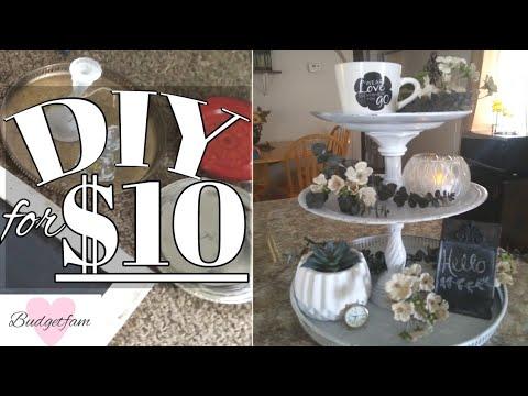 DIY 3 tiered tray / Farmhouse decor on a budget